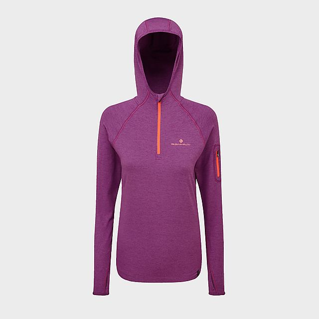 RONHILL Women's Momentum Workout Hoody, PUR/PUR