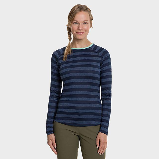 Berghaus Women's Striped Long Sleeve 2.0 T-Shirt, NVY/NVY