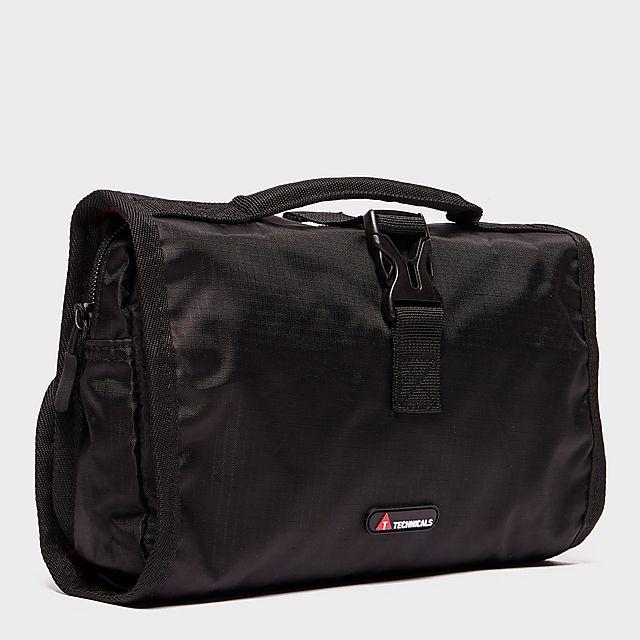 TECHNICALS Foldout Wash Bag, BLK/BLK