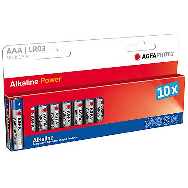 Image of AGFA AAA Digital Alkaline Batteries (10 pack)