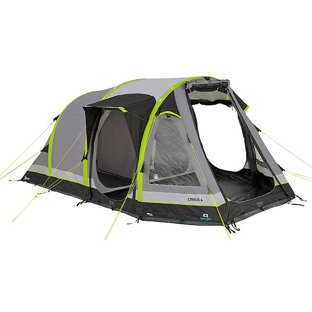 AIRGO Cirrus 4 Inflatable Tent, GRAPHITE-LIME