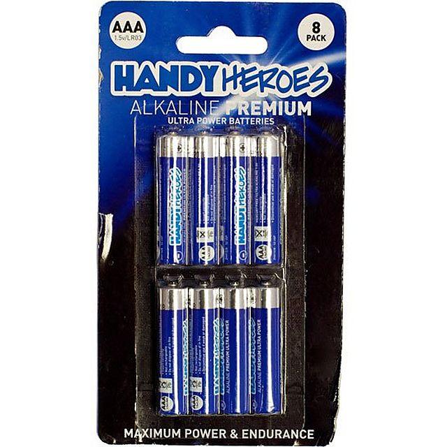 Image of HANDY HEROES AAA Alkaline Premium Ultra Power Batteries (8 pack