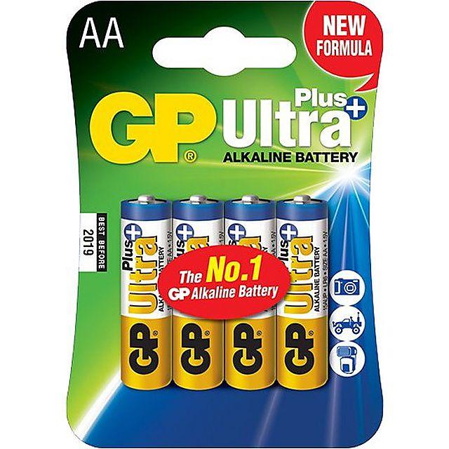 Image of GP BATTERIES Ultra Plus Alkaline Batteries (4 x AA)