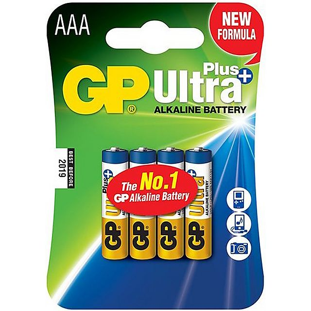 Image of GP BATTERIES Ultra Plus Alkaline Batteries (4 x AAA)