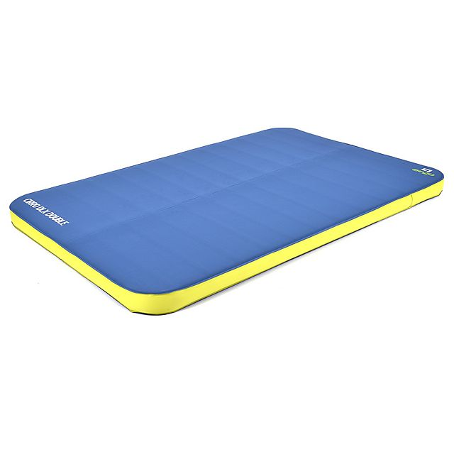 AIRGO Cirro Double DLX Self-Inflating Mat, PETROL-LIME