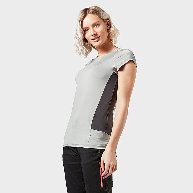 CRAGHOPPERS Women's Atmos Short Sleeved T-Shirt, Grey/LGY