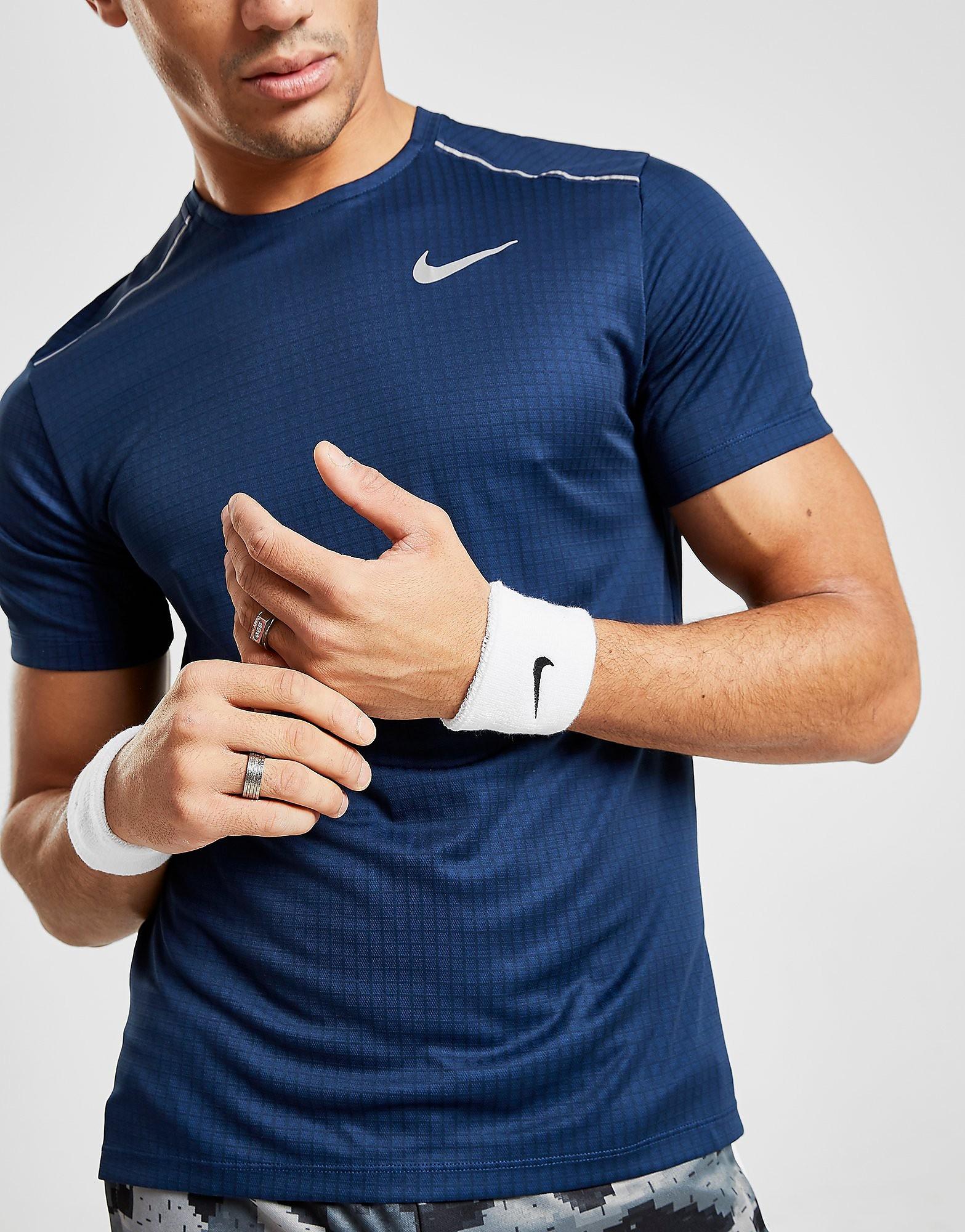 Nike 2 Pack Swoosh Wristband - White/Black - Mens, White/Black