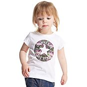Converse Girls' Chuck Patch Floral Fill T-Shirt Infant