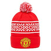 Official Team Manchester United FC Snowflake Bobble Hat
