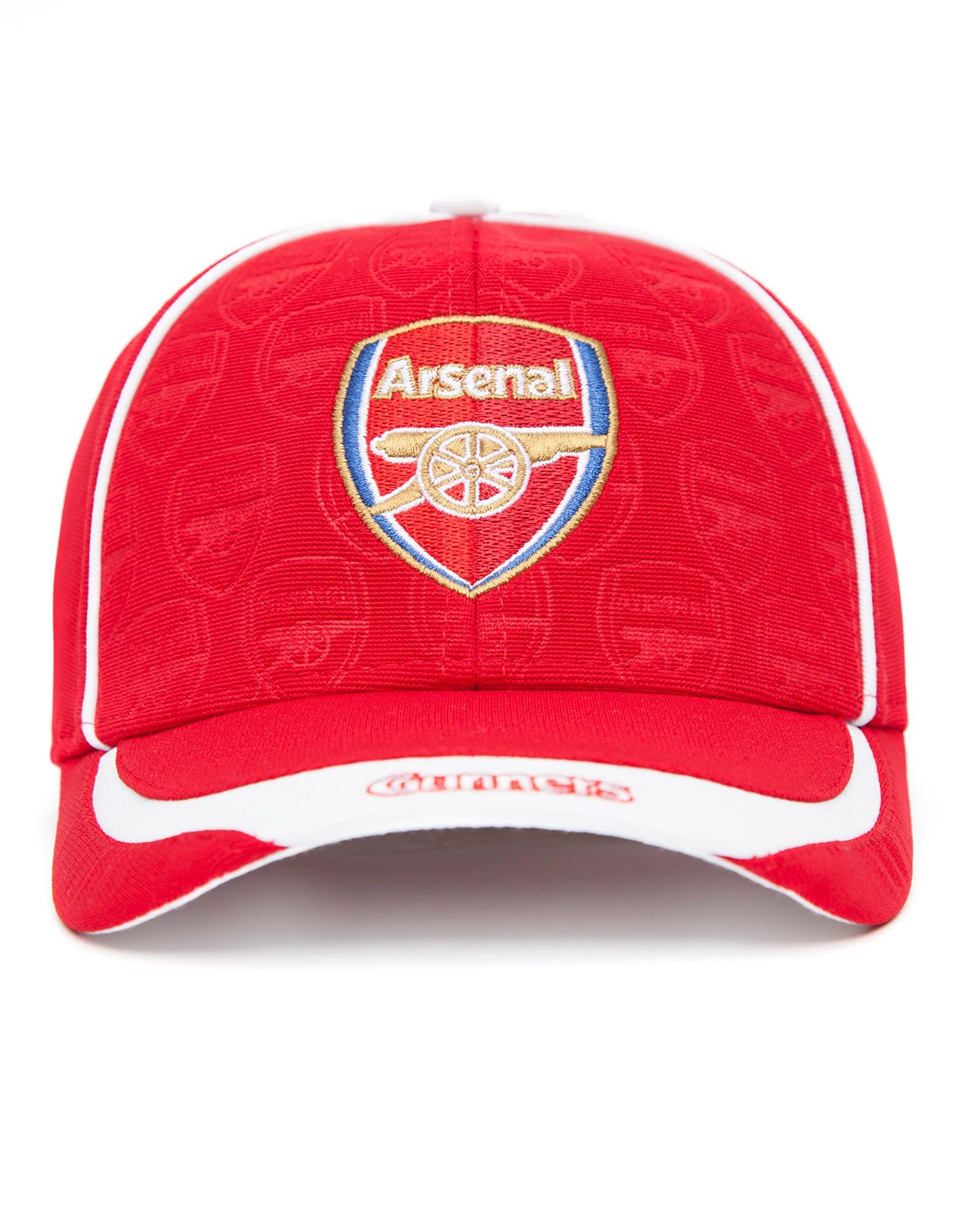 Official Team Arsenal FC Deboss Cap - Red/White - Mens, Red/White