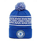 Official Team Chelsea FC Snowflake Bobble Hat