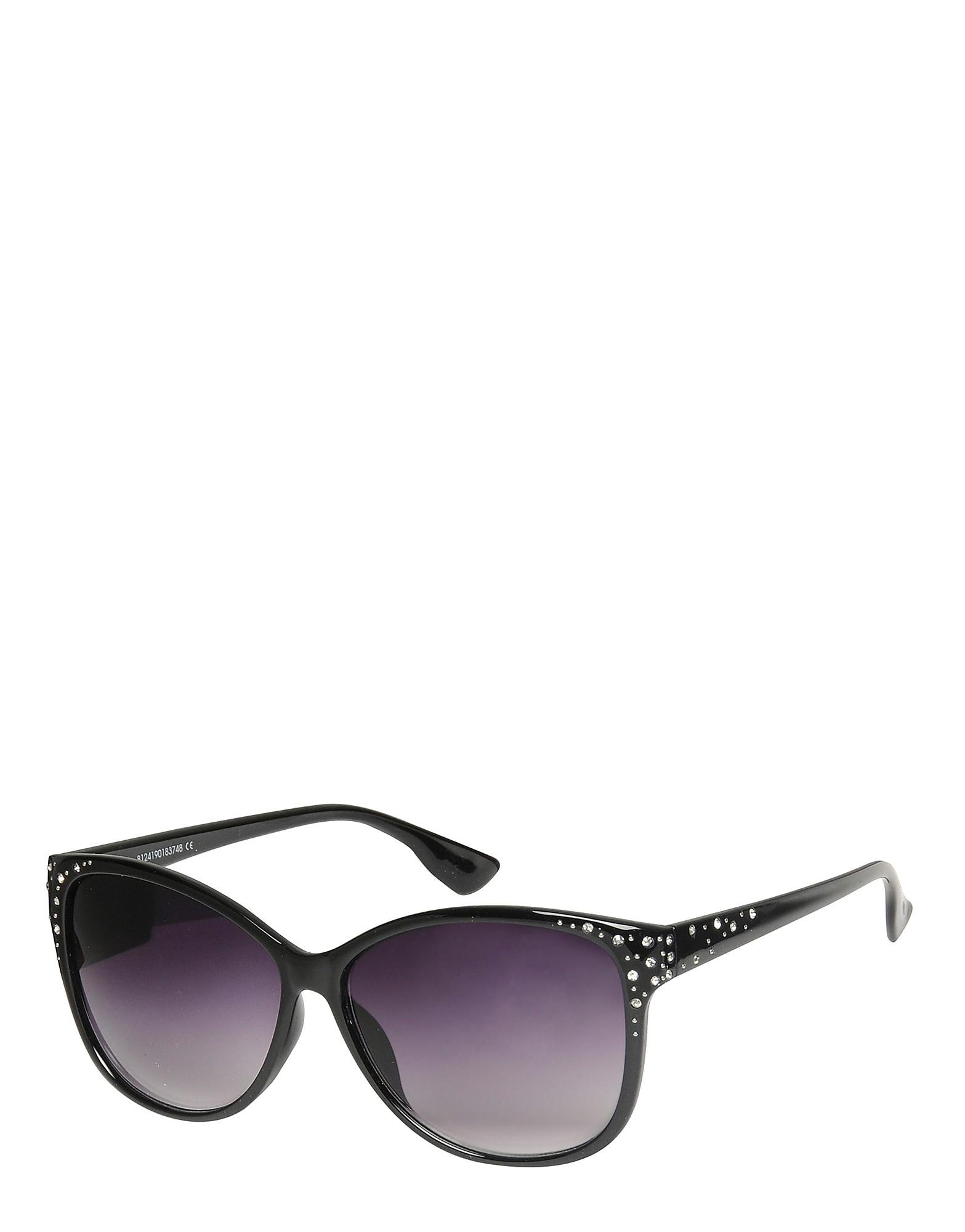 Brookhaven Millie Wayfarer Diamante Sunglasses - Only at JD - Black - Womens, Black