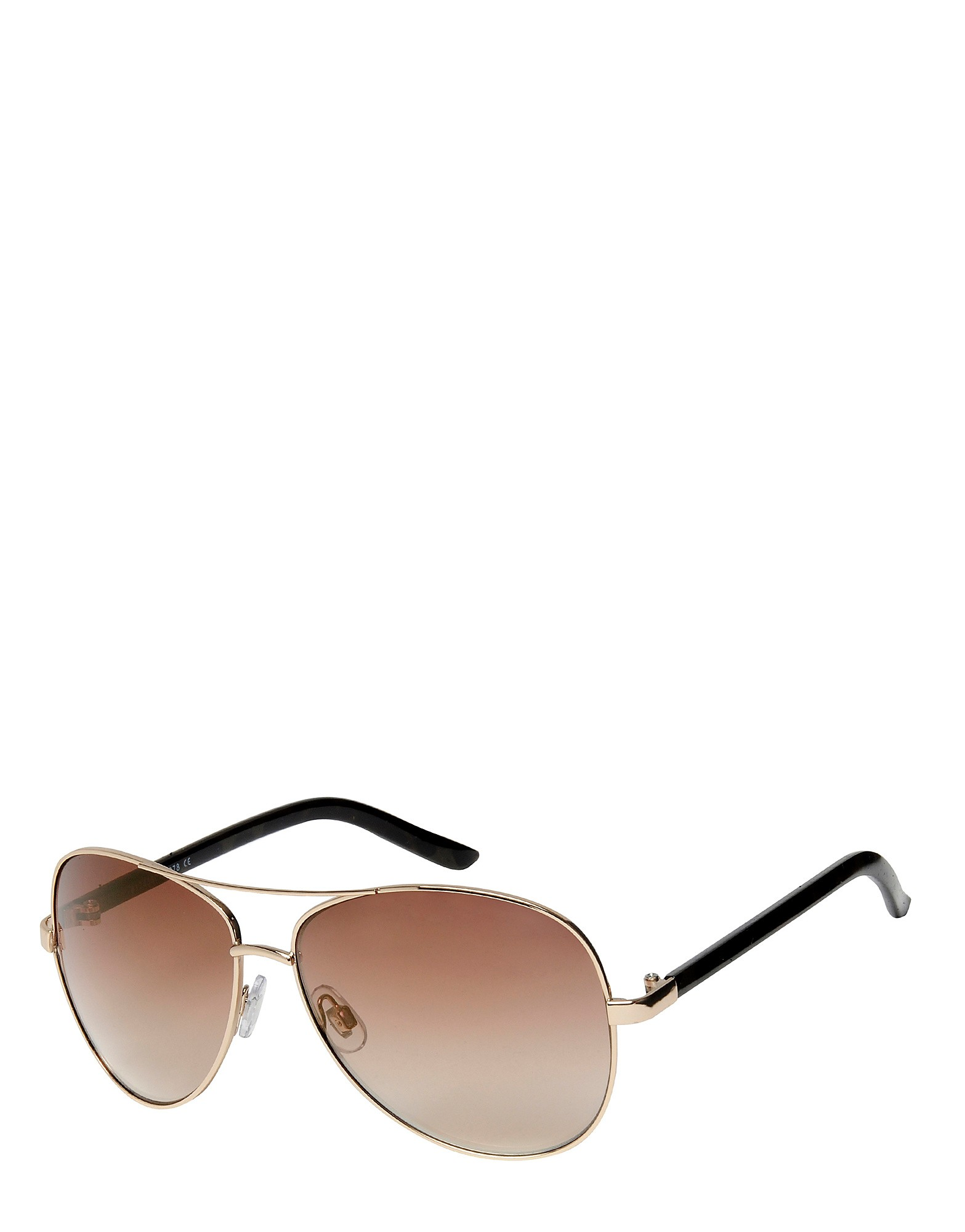 Brookhaven Sam Leopard Aviator Sunglasses - Only at JD - Gold/Brown - Womens, Gold/Brown