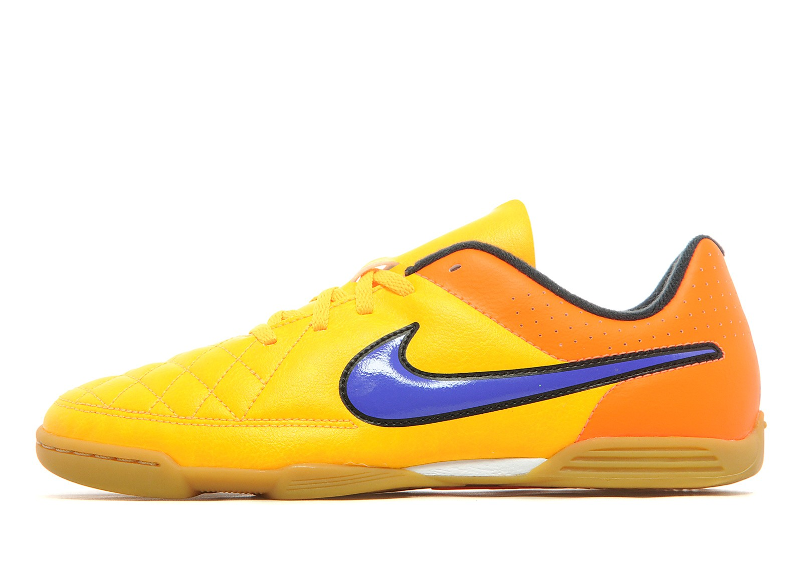 Kids Intense Heat Tiempo IC Junior Laser Orange/Persian Violet