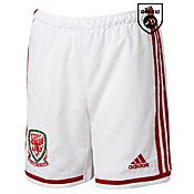 adidas Wales 2014 Junior Away Shorts