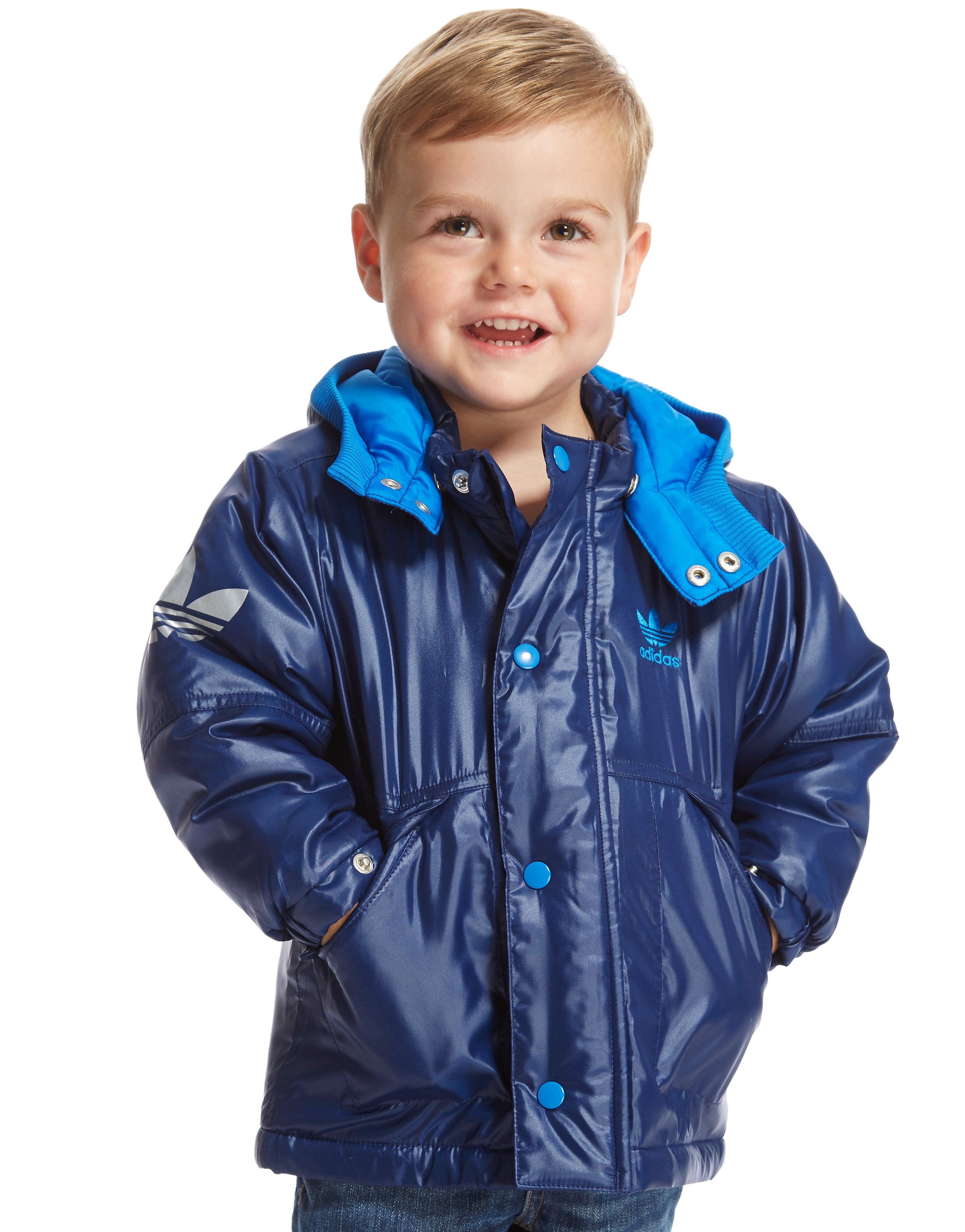 adidas Originals Parka Jacket Infant - Navy/Blue - Kids, Navy/Blue