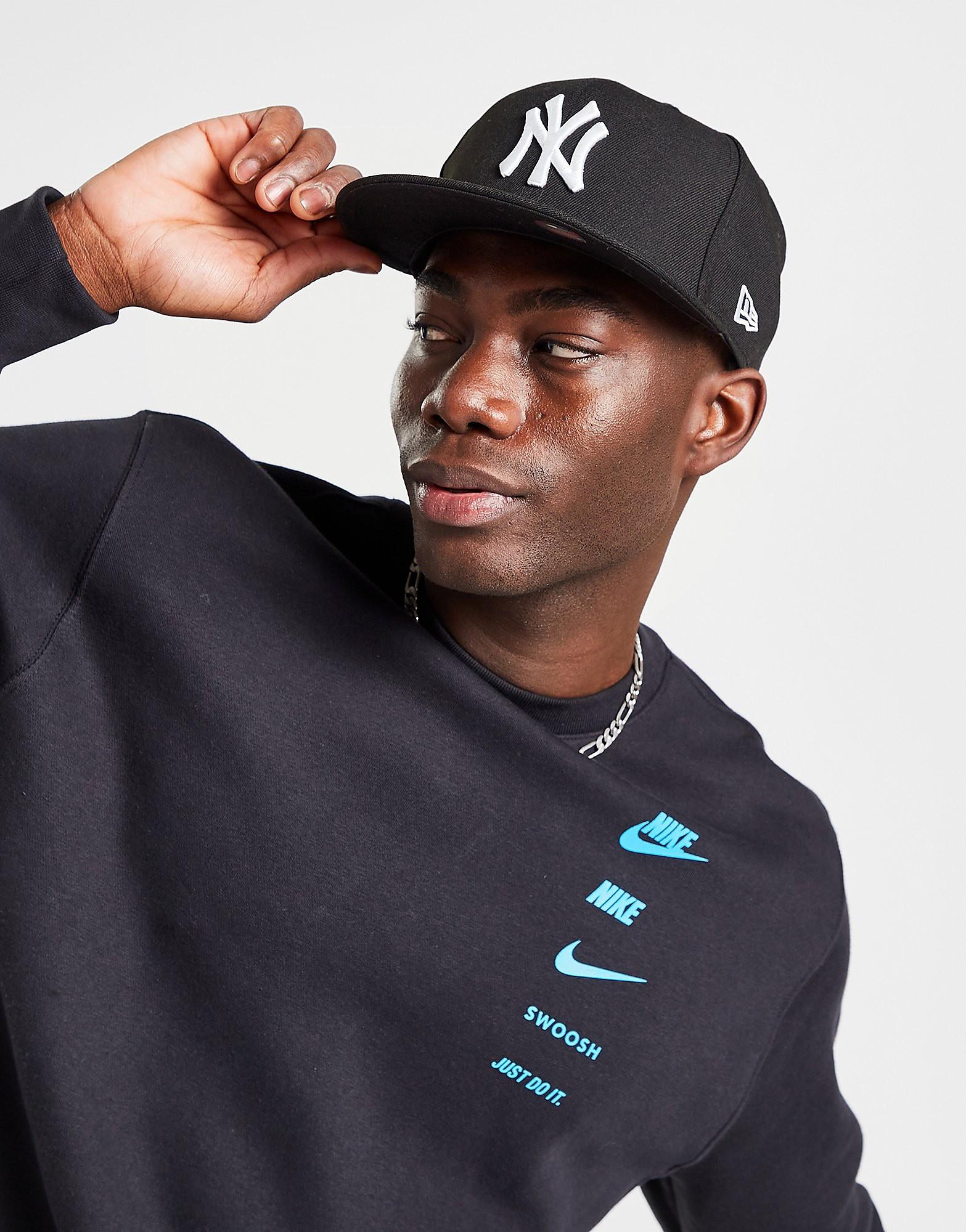 New Era MLB New York Yankees 59FIFTY Fitted Cap - Black/White - Mens, Black/White