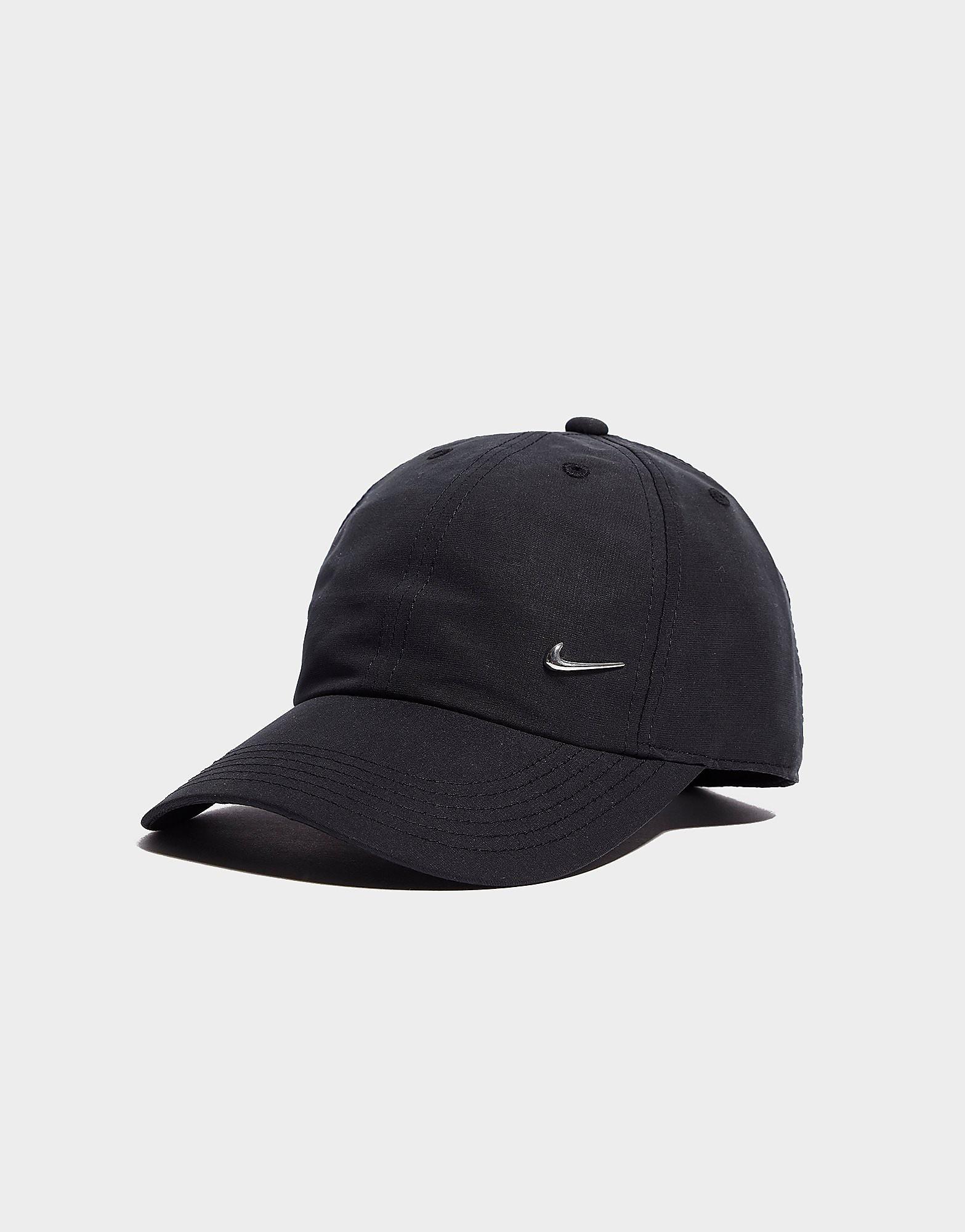 Nike Side Swoosh Cap Junior - Black/Silver - Kids, Black/Silver