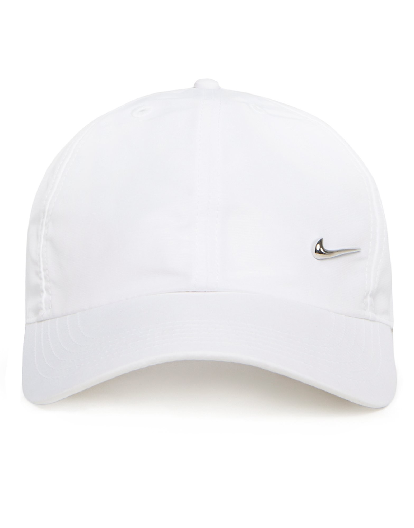Nike Side Swoosh Cap Junior - White/Silver - Kids, White/Silver
