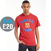 Official Team F.C Barcelona Varsity T-Shirt