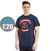Official Team F.C Barcelona Scroll T-Shirt