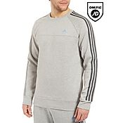 adidas 3 Stripe Essentials Crew Sweater