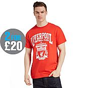 Official Team Liverpool F.C Crest T-Shirt