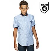 Fred Perry Polka Dot Short Sleeve Shirt Junior