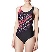 Speedo Placement Powerback Printed 6 Swimsuit