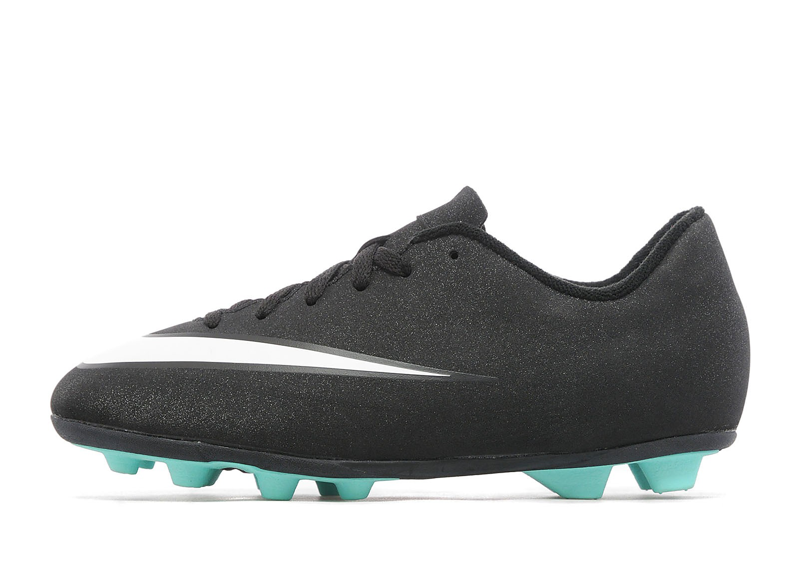 Kids CR7 Mercurial Vortex FG Junior Black/White