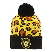 New Era NFL Oakland Raiders Leopard Bobble Hat