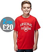 Official Team Arsenal 1886 T-Shirt Junior