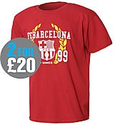 Official Team Barcelona Laurel T-Shirt Junior