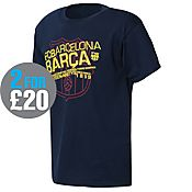 Official Team Barcelona Badge T-Shirt Junior
