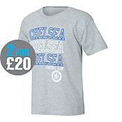 Official Team Chelsea Stack T-Shirt Junior