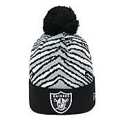 New Era NFL Oakland Raiders Zubaz Bobble Hat