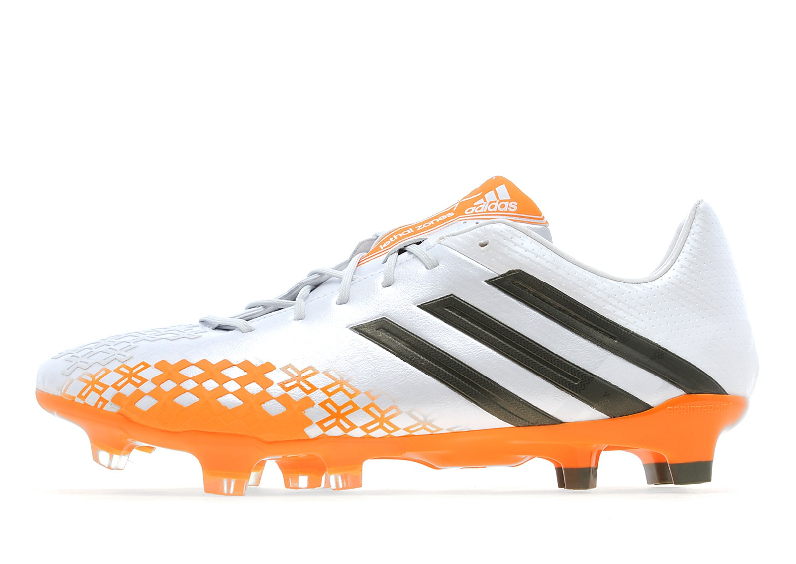 Mens adidas Predator Firm Ground White/Green/Zest