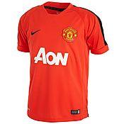 Nike Manchester United Short Sleeve Junior Training Top