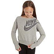 Nike Girls Mezzo Crew Sweatshirt Junior