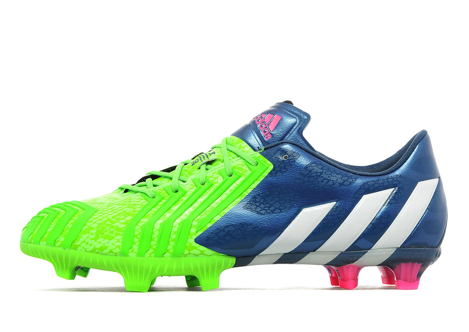 Mens adidas Predator FG Rich Blue/Solar Green