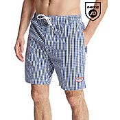 Duffer of St George Gingham Swim Shorts