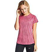 Nike Printed Miler V-Neck T-Shirt