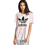 adidas Originals 'Rose Collection' Pastel Rose Printed T-Shirt