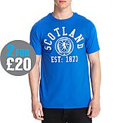 Official Team Scotland FA Arch Short Sleeve T-Shirt