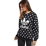 adidas Originals Dots Allover Print Trefoil Sweatshirt