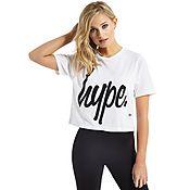 Hype Crop Script T-Shirt