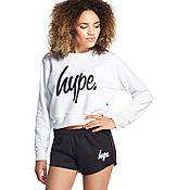 Hype Script Crop Sweatshirt