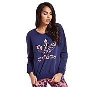 adidas Originals Baroque Ornament Logo Crew Sweatshirt
