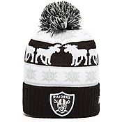 New Era NFL Oakland Raiders Intar Pom Beanie Hat
