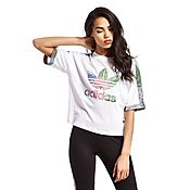 adidas Originals Floral Crop T-Shirt